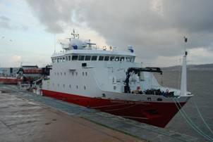 El buque Sarmiento de Gamboa.
