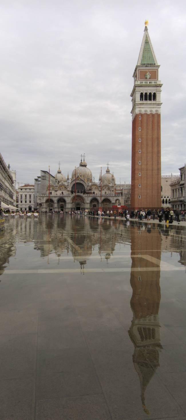 Acqua alta Plaza San Marcos Venecia