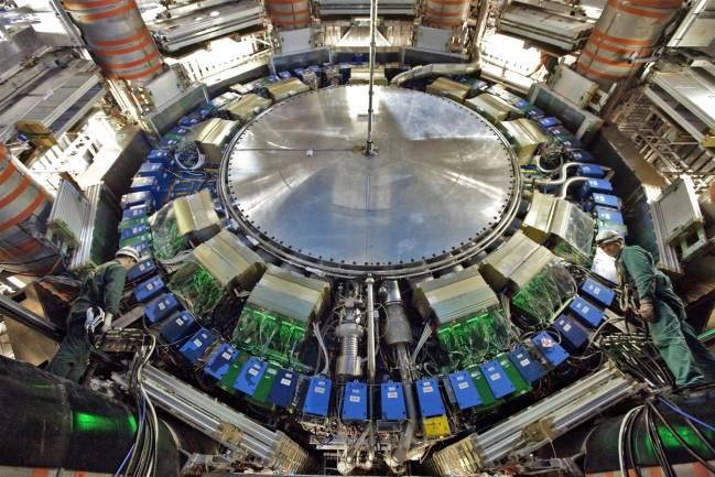 Imagen de uno de los calorímetros de ATLAS, en el LHC. Foto: CERN