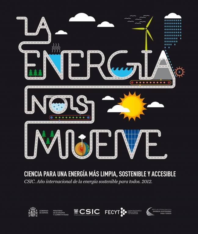 """Imagen del cartel de la exposición """"La energía nos mueve"""""""
