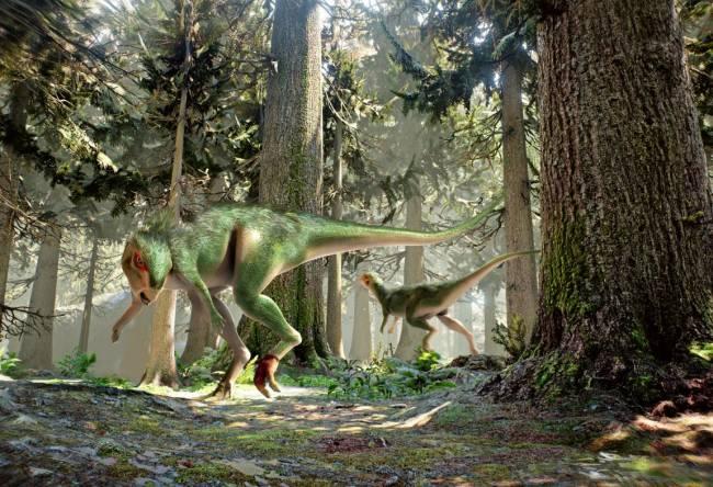 Dinosaurio bípedo