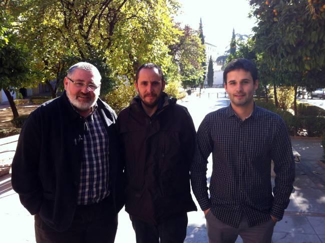 Los tres autores del artículo recogido por la revista Science. De izquierda a derecha, Emilio Delgado López-Cózar, Nicolás Robinson García y Daniel Torres‐Salinas (UGRdivulga).