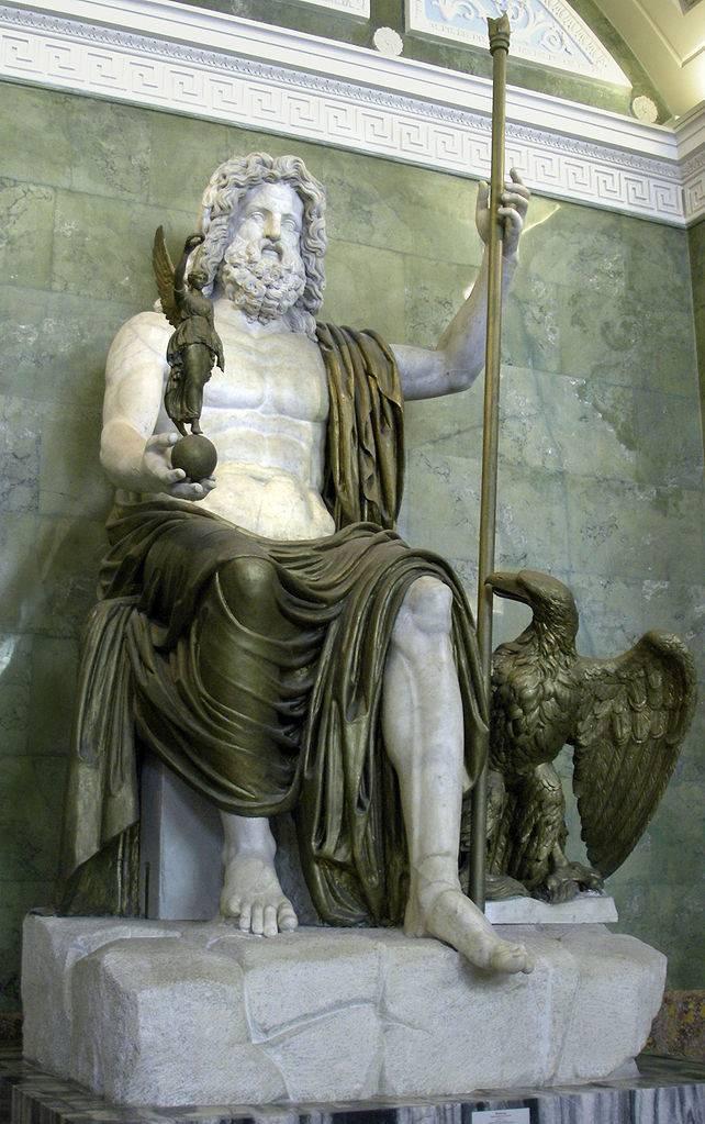 Zeus de Dresde en el Museo del Hermitage (Rusia), que imita al de Olimpia. Autor: George Shuklin/Wikimedia.