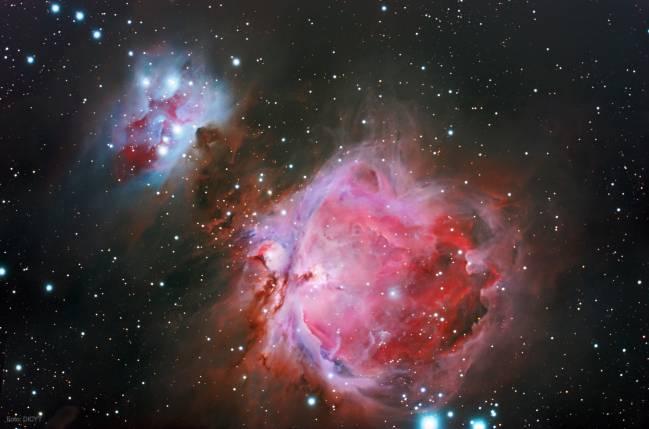 Gran Nebulosa de Orión, en una fotografía tomada por el observatorio Infrared.