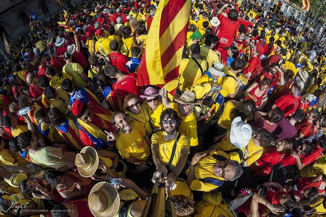 Manifestación de la Diada en Cataluña. / Jordi Payà