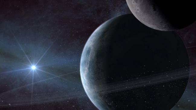 Representación artística de un exoplaneta orbitando a su estrella