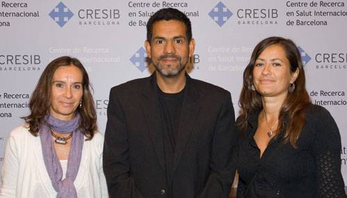 Clara Menéndez, John Aporte y Andrea Egan