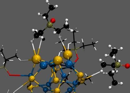 Estructura de un QD de CdSe (seleniuro de cadmio)