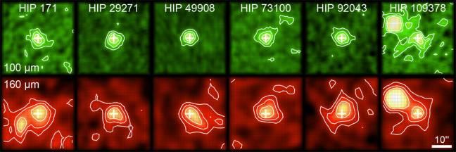 Encuentran discos de escombros alrededor de estrellas similares al Sol