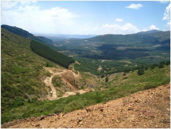 Vista general de la mina Mónica de Bustarviejo (Madrid) Fuente: UPM.