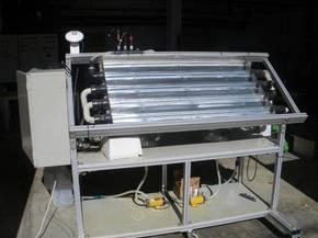Fotorreactor a escala en la planta piloto. Imagen: Fundación Descubre.