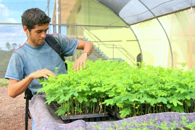 Tecnico trabajando en las instalaciones de El Limón