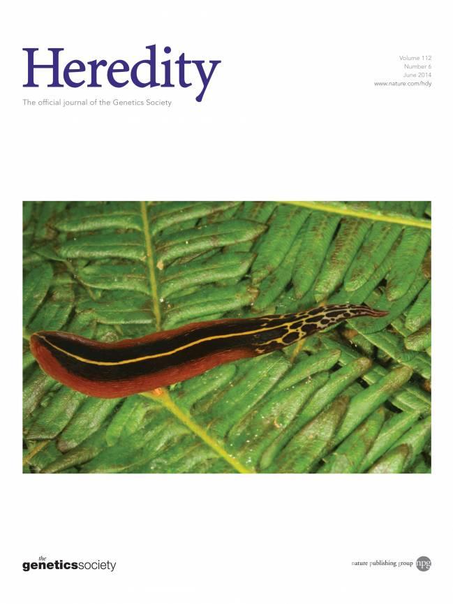 El nuevo trabajo científico está publicado en portada en la revista Heredity.
