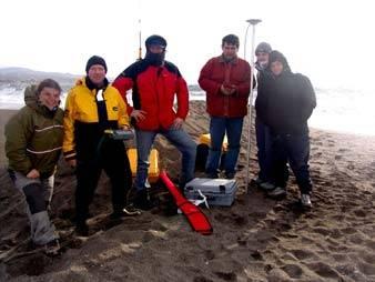 En la imagen, de izquierda a derecha, los científicos Fátima Navas, Robert Stewart, Derek Jackson, Gonzalo Malvárez, Emilia Guisado y Macarena Tejada