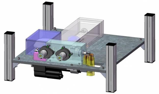 Prototipo del mecanismo que permitirá el estudio biomédico en condiciones de microgravedad