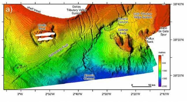 Gráfico del riesgo sísmico en Almería