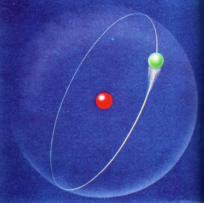 Ilustración del átomo de hidrógeno. / Ludie Cochrane.