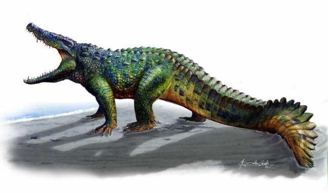 Reconstrucción de Allodaposuchus hulki
