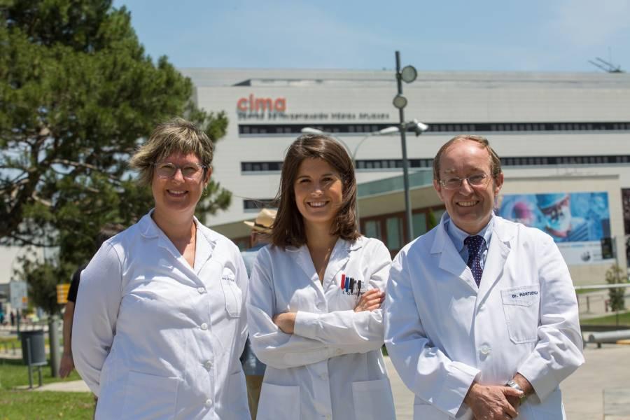 Jackeline Agorreta, Irati Garmendia y Luis Montuenga, coordinadores de la investigación