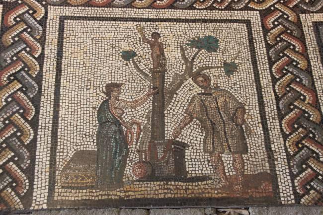Mosaicos romanos en St. Roman en Gal