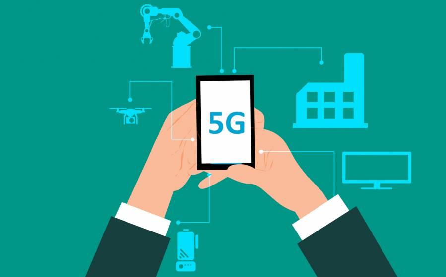 aplicación del 5G en entornos industriales con robots y drones