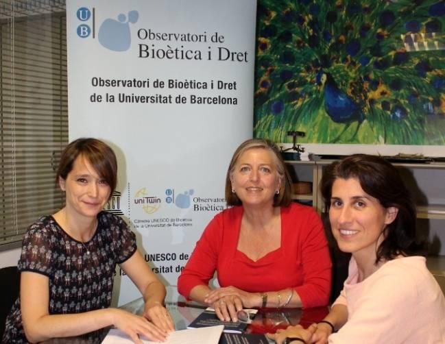 De izquierda a derecha, las expertas Blanca Bórquez, María Casado e Itziar de Lecuona.