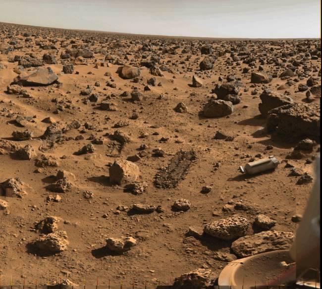Superficie de Marte (imagen tomada por una sonda de la NASA)