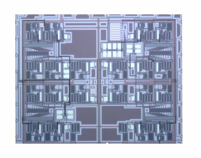 El chip incorpora un nuevo diseño de convertidor analógico digital de ultra bajo consumo. / UPNA