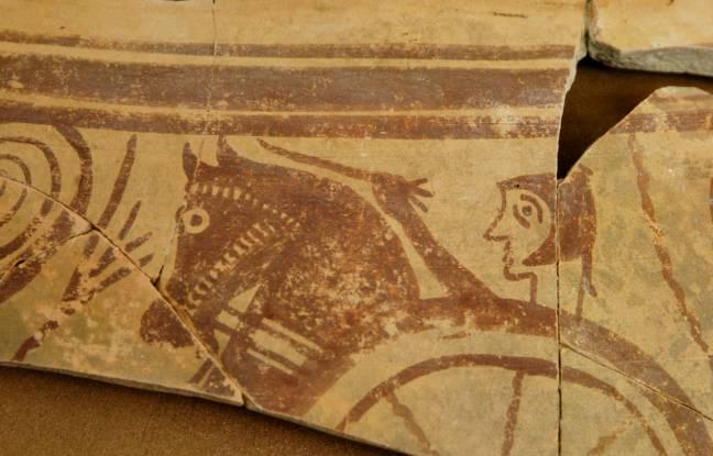 Detalle de vaso singular del yacimiento arqueológico de Libisosa (Lezuza, Albacete)