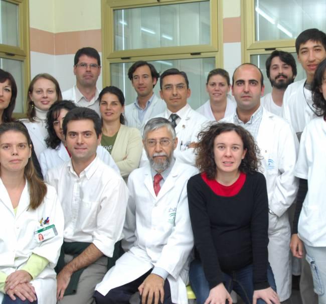 Grupo del investigador Francisco Fuentes, situado atrás a la izquierda / Fundación Descubre
