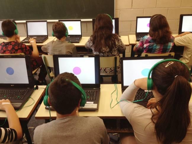 Una de las aulas donde se realizaron los tests del proyecto Breathe de ISGlobal.