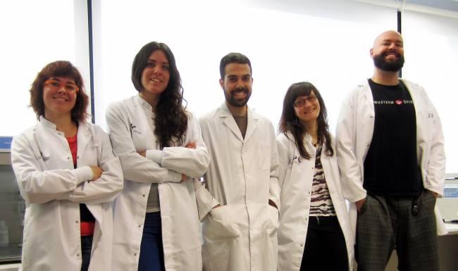 Algunos miembros del equipo de investigación: Amanda Sierra, Oihane Abiega, Roberto Valcarcel, Soraya Martín y Juan Manuel Encinas