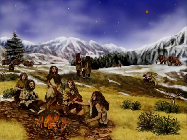 Los neandertales usaban el fuego de forma prácticamente permanente. Ilustración: JPL/NASA.