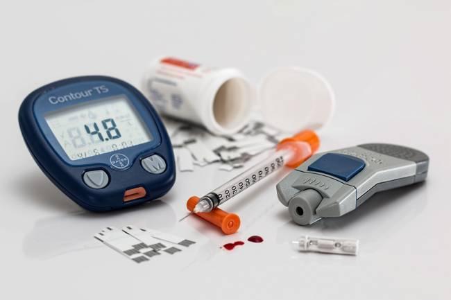 kit para una persona diabética