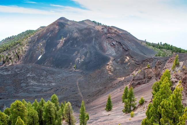 Cráter Duraznero en el volcán San Juan