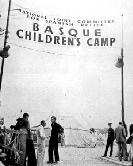 Campamento de niños vascos en Gran Bretaña. Foto: Instituto Cervantes.