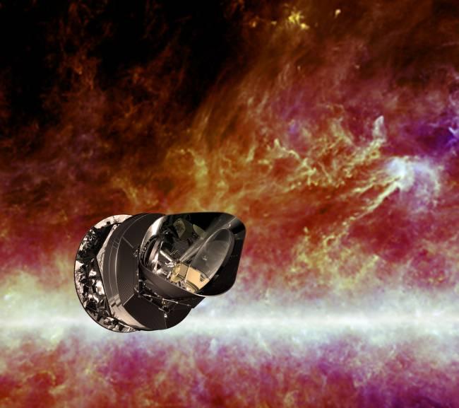Ilustración del satélite Planck