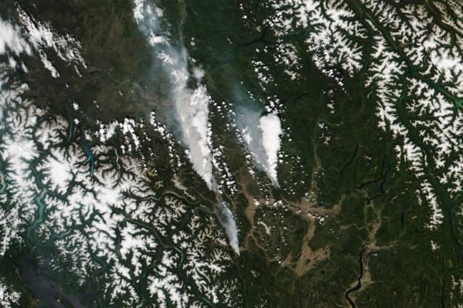 Incendios Columbia Británica por ola de calor