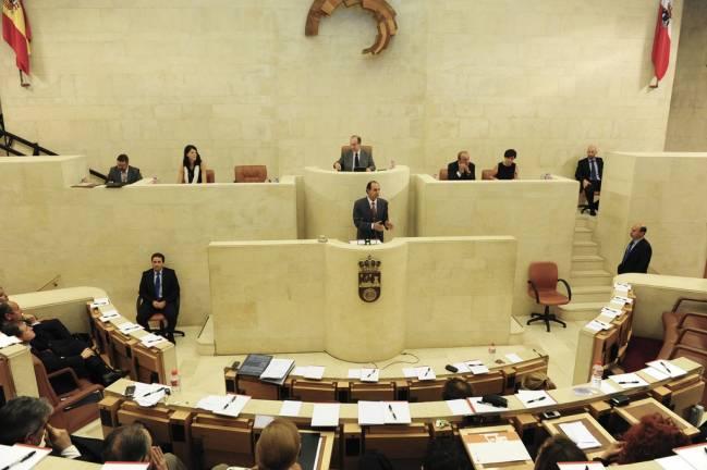 Sesión plenaria en el Parlamento de Cantabria, en 2011. / Parlamento de Cantabria.