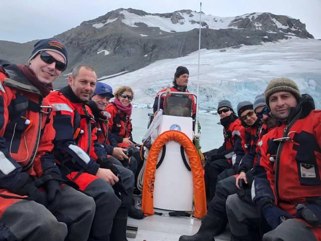 Un iceberg en la antártida