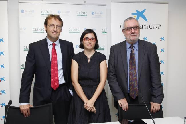 Dr. Eduard Gratacós, Dra. Fátima Crispi i Sr. Enric Banda