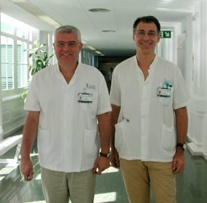 El Dr. Antoni Torres y el Dr. Miquel Ferrer