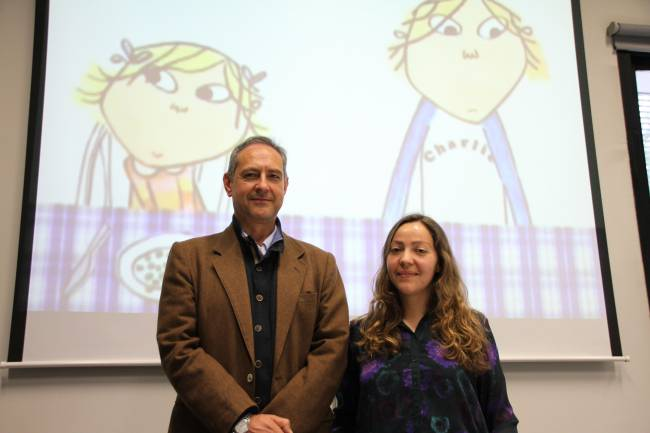 Los investigadores de la UGR autores de este trabajo, Concepción Alonso Valdivieso y Jesús Pertíñez López (UGRdivulga).