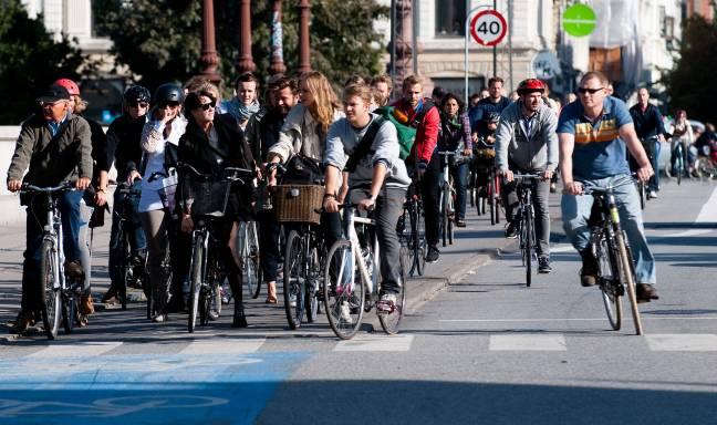 Ciclistas pasean por Copenhage. / Wikipedia