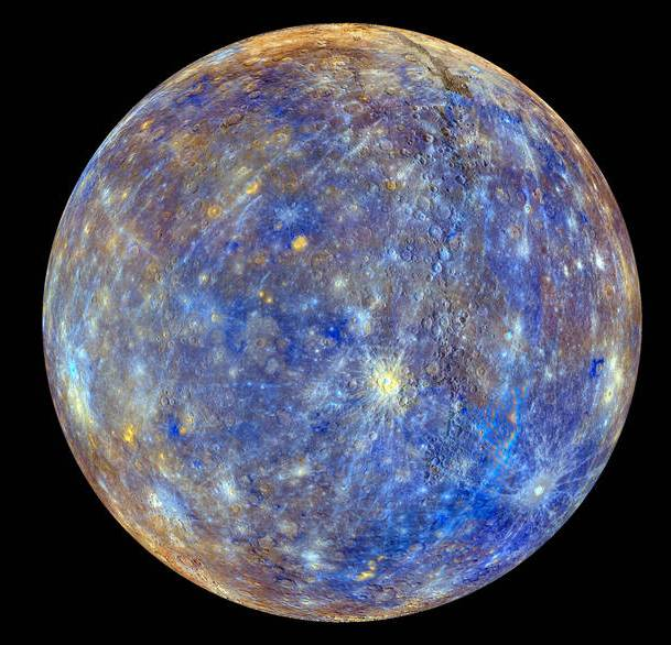 La superficie de Mercurio está salpicada de cráteres por impactos meteoríticos. / NASA-Johns Hopkins University Applied Physics Laboratory-Carnegie Institution of Washington.