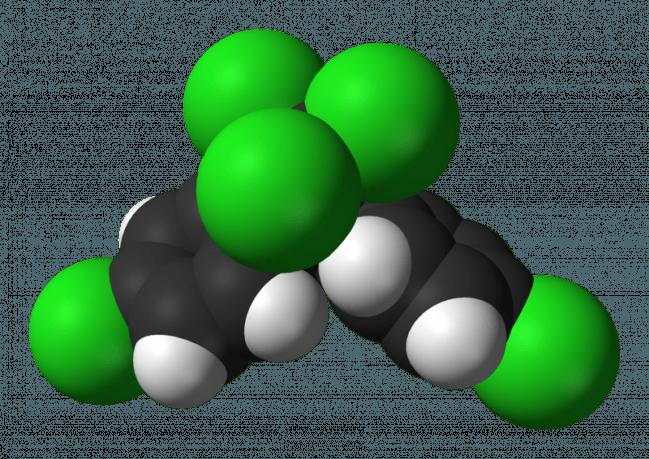 Representación tridimensional de la molécula de DDT / UGR