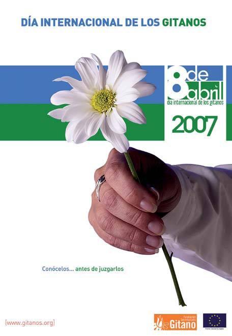 Cartel del Día Internacional de los Gitanos. Foto: Fundación Secretariado Gitano.