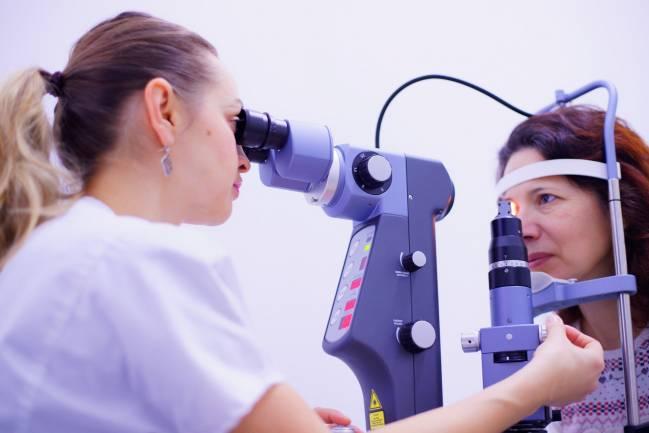 Prueba diagnóstica de salud ocular