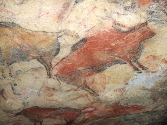 Imagen de una de las pinturas de la Sala de Polícromos