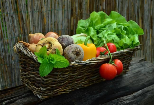 Fotografía de verduras frescas.